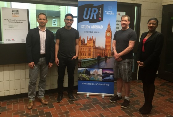 9b4a6184e8 Left to right: Werner Beylefeld (UR International ) with QEII scholars  Joshua Gonzales and