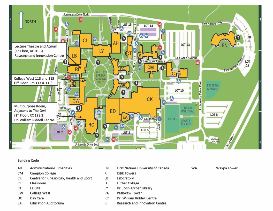 Campus Map Swaac 2020 Living Your Truth University Of Regina