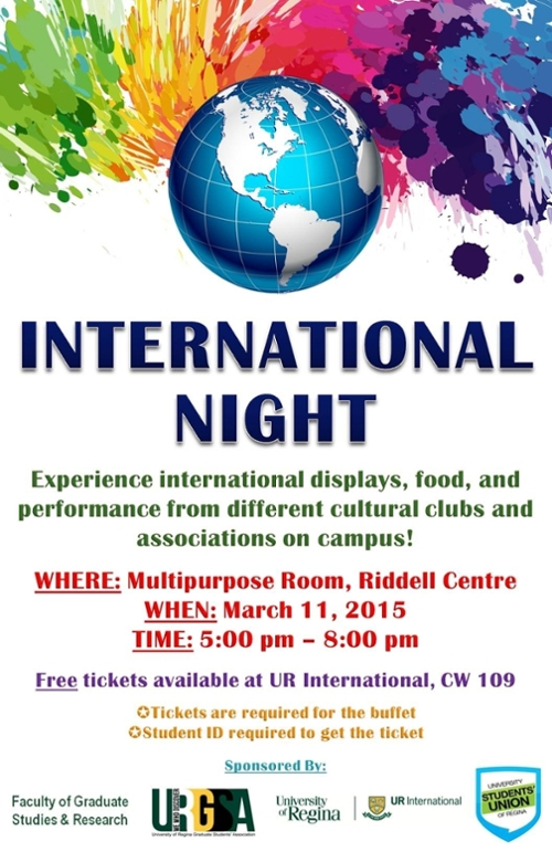International Night Ur International University Of Regina
